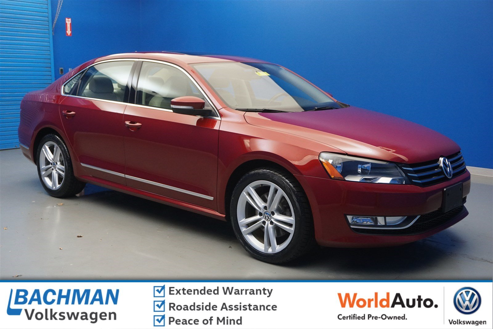 Certified Pre-Owned 2015 Volkswagen Passat 1.8T SE w/Sunroof & Nav
